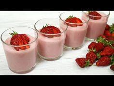 Ai lapte și căpșuni? Faceți acest desert cremos delicios! 🍓 - YouTube Panna Cotta, Baking, Ethnic Recipes, Desserts, Food, Deserts, Strawberry Fruit, Milk, Strawberries