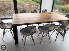 Stół loftowy z blatem litym dębowym Wymiary 200x100 :)  #stołloftowy #mebleloftowe #meblenawymiar #stolzblatemdebowym