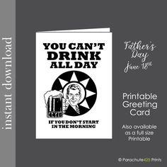 printable card beer card birthday printable birthday card beer printable alcohol card graduation card funny card fathers day card - Print Birthday Cards Online