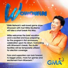 Willie Revillame, Election Coverage, Gma Network, Short Break, Pinoy, Celebrities, Celebs, Celebrity, Famous People