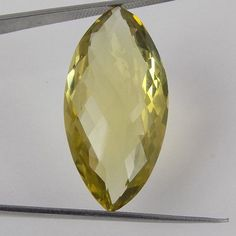1 Pieces Natural Lemon Citrine Marquise 17x26mm 40Cts Faceted Handmade Gemstone #Raagarw