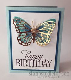 Christmas Music Please Handmade Birthday Cards, Happy Birthday Cards, Greeting Cards Handmade, Butterfly Cards Handmade, Envelopes, Free Cards, Card Tags, Door Tags, Stamping Up Cards