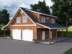 Carriage House Plans   Craftsman-Style Garage Apartment Plan with ...