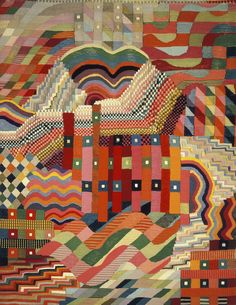 Gunta Stölzl, Schlitzgobelin Rot-Grün, 1927-1928 / Bauhaus-Archiv Berlin, Foto…