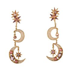 PERCOSSI PAPI - Collezione - SOLI E LUNA ❤ liked on Polyvore featuring jewelry, earrings, accessories, gypsy, gypsy earrings, gypsy jewelry and luna jewelry