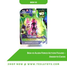 Brand new in box. Figure comes with all shown accessories. Figure height approximately inches). Condition note: Box has wear and is meant to be opened. Not suitable for display as-is. Ben 10 Alien Force, Shops, Action Figures, Display, Note, Accessories, Floor Space, Tents, Billboard