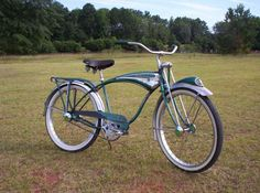 I want this bike! Very rare in green! 1956 Schwinn Phantom - Picture #1 - Dave's Vintage Bicycles