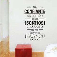 Resultado de imagem para adesivo de parede com frases