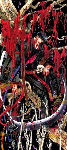 CLAMP X 1999 tarot art. Seishiro Sakurazuka, the head of the Sakurazukamori (Assassin clan). Magic Knight Rayearth, Xxxholic, Manga Boy, Cardcaptor Sakura, Beautiful Sky, Me Me Me Anime, Clamp, Anime Art, Tokyo