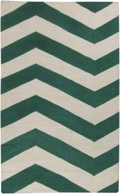 A twist on chevron - emerald Frontier rug from Surya (FT-537)