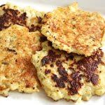 Subbed Parsley for Oregano and used half white flour and half flax meal in place of the whole wheat flour. Very yummy!!! Cauliflower Fritters   Skinnytaste