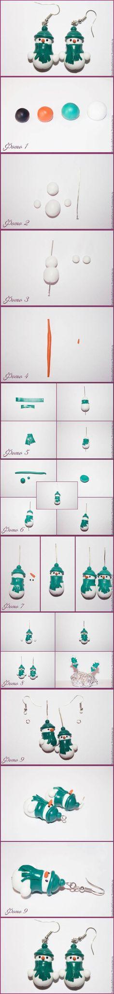 DIY Clay Snowman Earrings DIY Projects | UsefulDIY.com Follow Us on Facebook --> https://www.facebook.com/UsefulDiy