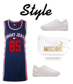 """354"" by meldiana ❤ liked on Polyvore featuring Tommy Hilfiger and Moschino"