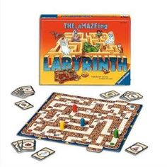 the amazing labyrinth  One ot my all time favorite board games.  Still love it!