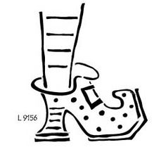 witches shoes coloring pages - photo#6