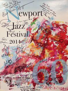 """Bottega Chioccia-Tsarkova immortala con il suo stile inconfondibile l'edizione 2014 del Newport Jazz Festival, il più famoso evento dedicato alla musica jazz degli USA, giunto alla 60° edizione.  L'arte di Massimo e Olga si trasforma in un immaginario """"spartito"""" in cui è possibile leggere le firme dei grandi del jazz. Dopo l'approdo negli States al Birdland di NY arriva la consacrazione:  un connubio di visioni, suoni ed emozioni che da Orvieto ci porta diretti alle stelle.  Proud to be…"""
