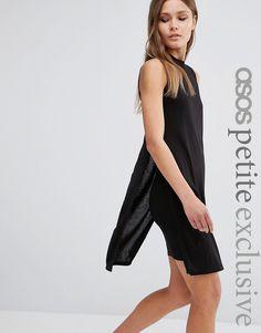 Image 1 ofASOS PETITE Clean Column Sheeth Dress