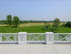 Classic Hamptons Beach House - chippendale railing