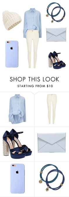 """Pretty in Blue"" by irenehwang ❤ liked on Polyvore featuring Victoria, Victoria Beckham, River Island, Miu Miu, Rebecca Minkoff, Lucky Brand and Accessorize"
