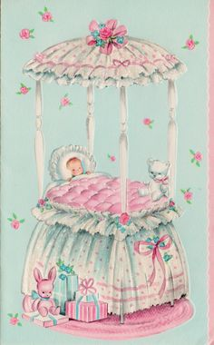 Baby card from my Baby Book. Baby Clip Art, Baby Art, Decoupage Vintage, Vintage Paper, Vintage Baby Pictures, Funny Ornaments, Baby Illustration, Old Cards, Retro Baby