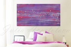 Purple Print Large Wall Art Minimalist Art por JuliaApostolova