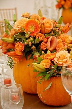 Pumpkin centerpiece by delores