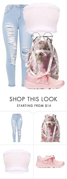 """pink lemonade "" by newyorkbae on Polyvore featuring Puma and ZeroUV"