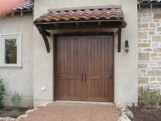 Another great custom door project that we did for a residential client. Note that this is an overheat roll-up door! (San Antonio, TX)