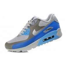 new arrival 20673 75704 DiscountNike Air Max 90 - Cheap Nike Air Max 90 Hyperfuse Premium White  Grey Metallic Silver - Blue Glow Hot