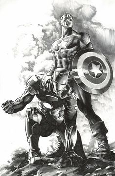 Iron Man and Captain America.........