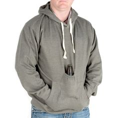 Charcoal Beer Hoodie Sweatshirt With Blank Beer Pouch 2 Extra Large Gag Gifts For Men, Thing 1, Lederhosen, Cool Inventions, Stay Warm, Fashion Brands, Hooded Jacket, Pouch, Sweatshirts