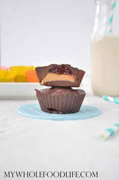 PBJ Chocolate Cups - My Whole Food Life