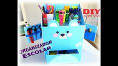 DIY. Organizador Escolar 2 - Urso Kawaii. DIY Kawaii Box