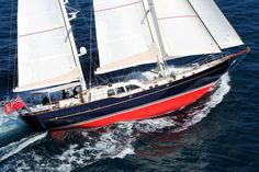 Ron Holland-designed 106-foot ketch KESTREL owned by Peter and Jenny Cooke