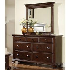 Picket House Furnishings Brinley Cherry Dresser & Mirror Set (Torino Dresser and Mirror), Brown, Size 7-drawer