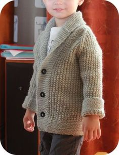 Fantastic little Oscar Cardigan by Emilie #knitting #kids #kidstyle