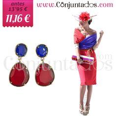 Pendientes de fiesta Zoe en rojo y azul ★ ahora solo 11'16 € ★ Cómpralos en https://www.conjuntados.com/es/pendientes-de-fiesta-zoe-en-rojo-y-azul.html ★ #rebajas #sales #soldes #rabatte #rebaixes #deskontuak #vendas #sconti #pendientes #earrings #conjuntados #conjuntada #joyitas #lowcost #jewelry #bisutería #bijoux #accesorios #complementos #moda #eventos