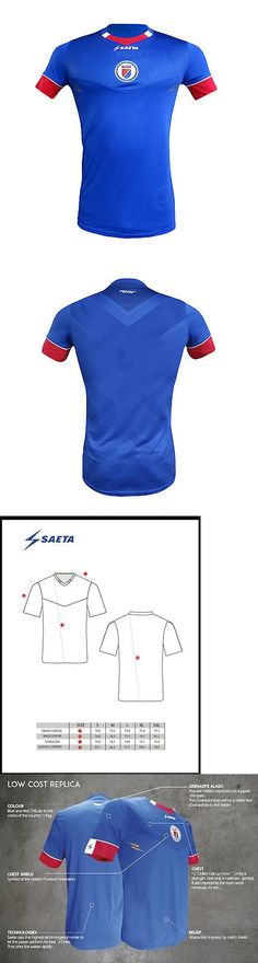 Soccer-National Teams 2891: Official Haiti National Football Team Blue Soccer  Jersey -\u003e