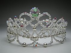 Unique ballet headpiece! Built on a silver frame, totally hand-made, it features rose light amethyst crystal drops and silver pearls. Ships in 2 to 4 weeks. Price: $ 170.00 + shipping