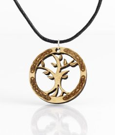Wooden Tree of Life Pendant-Made in Ireland  Price : $34.95 http://www.biddymurphy.com/Wooden-Tree-Life-Pendant-Made-Ireland/dp/B00MY81WY4
