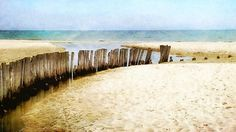 Title  Breakwater On A Sandy Beach   Artist  Maya Danielewska   Medium  Digital Art - Paintography, Photographic Digital Art