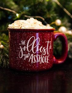 The Jolliest Asshole Christmas mug. Perfect Christmas gift for the person who loves Christmas Vacation. Holiday mug. Christmas Mugs, Perfect Christmas Gifts, All Things Christmas, Xmas Gifts, Christmas Crafts, Merry Christmas, Christmas Decorations, Funny Christmas Gifts, Fun Gifts