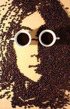 John Lennon Potrait as Coffee