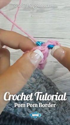 Bobble Stitch Crochet, Crochet Blanket Edging, Crochet Lace Edging, Crochet Flower Tutorial, Baby Afghan Crochet, Crochet Edges For Blankets, Crochet Stitches For Beginners, Crochet Videos, Crochet Crafts
