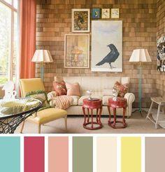 23 Color Palettes in Interior Designs