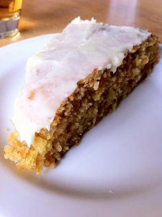 Carrot Cake, with a sweet frosting on top. (Translate this blog on the bottom of the page).