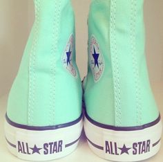 Converse Shoes love the mint color Pinned from: http://www.pinterest.com/kkstinson/accessories/