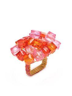 Kim Seybert Designs   Pop Rock Napkin Ring by Kim Seybert at Gilt   Design Aficionado