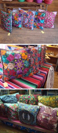 Guatemalan Hand Woven Pillow Covers - LaMariposa Mexican Imports - Folk Art, Mexican Dresses, Blouses, Sombreros, Pinatas, Fiesta Party Supplies, and Paper Flowers Dallas, Texas