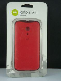 NEW -  GRIP SHELL cell phone case  for Moto G  red #Motorola